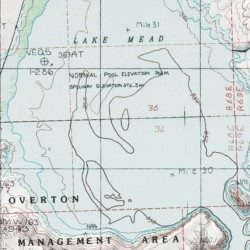 Topographic Map Of Nevada.Virgin River Basin Clark County Nevada Basin Overton Beach Usgs
