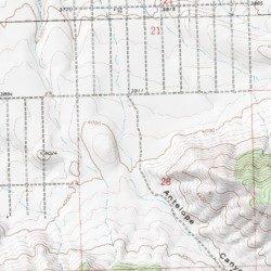 Antelope Canyon Mohave County Arizona Valley Mount Tipton Usgs