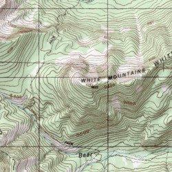 Topographic Map Mountains.White Mountains Custer County Idaho Range Star Hope Mine Usgs