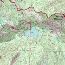 Upper Holland Lake Missoula County Montana Lake Holland Lake - Montana topo map