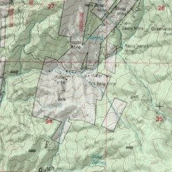 Map Of Crown King Arizona.Oro Belle Mine Yavapai County Arizona Mine Crown King Usgs