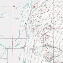 Monroe Canal Sevier County Utah Canal Annabella Usgs Topographic