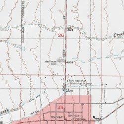 Herriman Cemetery Salt Lake County Utah Cemetery Copperton Usgs