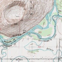 Henrys Fork Madison County Idaho Stream Menan Buttes USGS - Topographical map of idaho