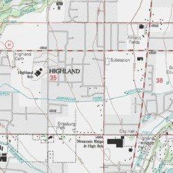 City Of Highland Utah County Utah Civil Lehi Usgs Topographic