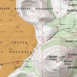Sunset Crater National Monument Map