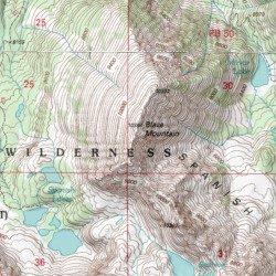 Blaze Mountain Madison County Montana Summit Lone Mountain USGS - Montana topo map