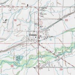 Oakley Utah Map.Oakley Summit County Utah Populated Place Kamas Usgs Topographic