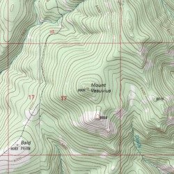 Mount Vesuvius Meagher County Montana Summit Monument Peak - Vesuvius map