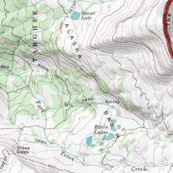 Alaska Basin Teton County Wyoming Basin Grand Teton USGS - Alaska topo maps