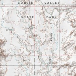 Goblin Valley State Park, Emery County, Utah, Park [Goblin ... on valley of fire map, hardware ranch map, athabasca glacier map, ogden map, fisher towers map, american fork canyon map, death valley tourist map, water quality map, coral pink sand dunes map, logan map, negro bill canyon map, red rock canyon map, cedar breaks map, tornado valley map, pelican lake map, timpanogos cave map, brian head map, little cottonwood canyon map, sego canyon map, great salt lake map,