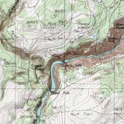 Topographic Map Of Yellowstone.Lower Falls Of The Yellowstone River Park County Wyoming Falls