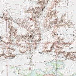 Milk River Badlands Hill County Montana Area Herron Park Usgs