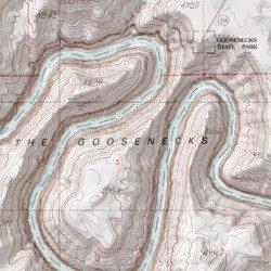 San Juan River Utah Map.Goosenecks Of The San Juan River State Park San Juan County Utah
