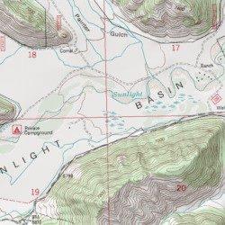 Sunlight Basin Wyoming Map.Sunlight Basin Park County Wyoming Basin Elkhorn Peak Usgs