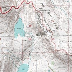 Wind River Range Wyoming Map.Wind River Range Sublette County Wyoming Range Mount Bonneville