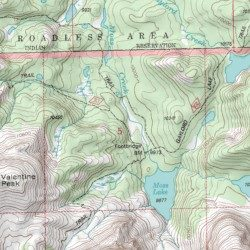 Moss Lake Trail, Fremont County, Wyoming, Trail [Lizard Head