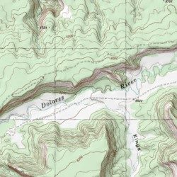 Dolores River Colorado Map.Little Dolores River Mesa County Colorado Stream Westwater Usgs