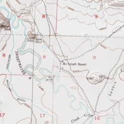 Mcintosh Ranch Fremont County Wyoming Locale Split Rock Usgs