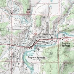 Pagosa Springs Archuleta County Colorado Populated Place Pagosa - Interactive topo map