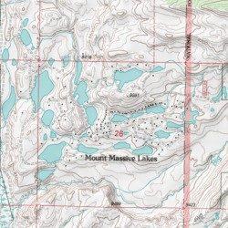 Lake County Colorado Map.Mount Massive Lakes Lake County Colorado Populated Place