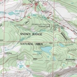 Snowy Range Wyoming Map.Snowy Range Natural Area Albany County Wyoming Area Centennial