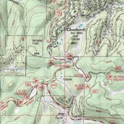 Deerhead Campground Otero County New Mexico Locale Cloudcroft - Topographical map of new mexico