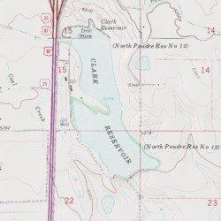 Clark Colorado Map.Clark Reservoir Larimer County Colorado Reservoir Cobb Lake Usgs