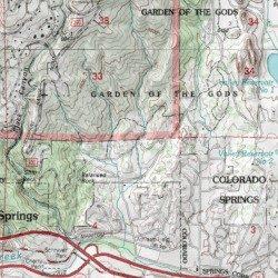 Garden Of The Gods Colorado Map.Garden Of The Gods El Paso County Colorado Park Manitou Springs