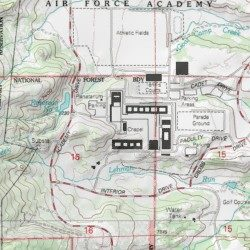 United States Air Force Academy Cadet Area San Miguel County - Air force academy map