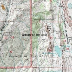 garden of the gods mine el paso county colorado mine cascade usgs topographic map by mytopo - Garden Of The Gods Map