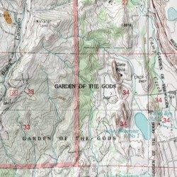 Garden Of The Gods Colorado Map.Garden Of The Gods Mine El Paso County Colorado Mine Cascade