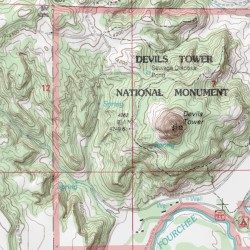 Devils tower national monument crook county wyoming summit devils tower national monument crook county wyoming summit devils tower usgs topographic map by mytopo publicscrutiny Choice Image