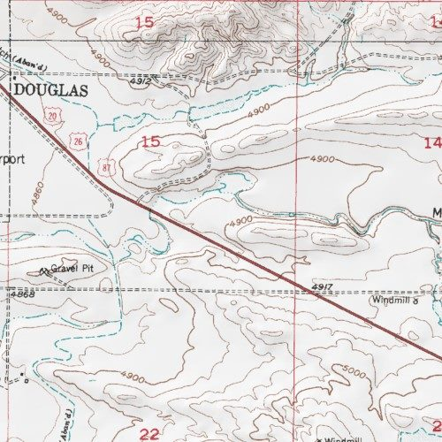 US Forest Service Douglas District Thunder Basin National - Us forest service topographic maps