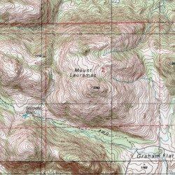 Topographic Map Mountains.Wichita Mountains Comanche County Oklahoma Range Saddle Mountain