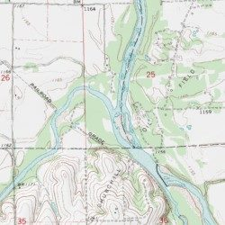 Ninnescah River Sumner County Kansas Stream Oxford USGS - Kansas rivers map