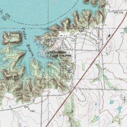 Cross Timbers Hiking Trail Grayson County Texas Trail - Topographic hiking maps
