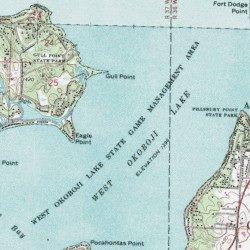 West Okoboji Lake Wildlife Management Area, inson County ... on milford iowa, map of west davenport iowa, lake okoboji arnold's park iowa, map okoboji bridges bay resort, dickinson county iowa, map of lake okoboji,