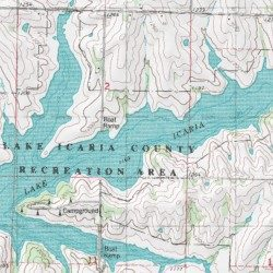 Lake Icaria Adams County Iowa Reservoir Corning North USGS - Icaria us map