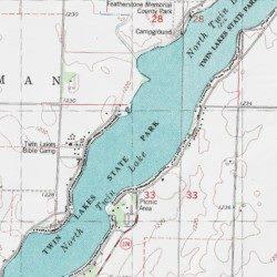 North Twin Lake Calhoun County Iowa Reservoir Rockwell City Usgs
