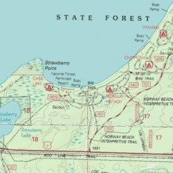Norway Beach Campground Cass County Minnesota Locale Cass Lake - Norway map topo