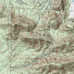 Dallas Mountain Polk County Arkansas Ridge Mena Usgs Topographic