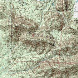 Dallas Mountain Polk County Arkansas Ridge Mena Usgs Topographic