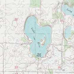 Lake Erie Meeker County Minnesota Lake Darwin USGS Topographic - Lake erie topographic map