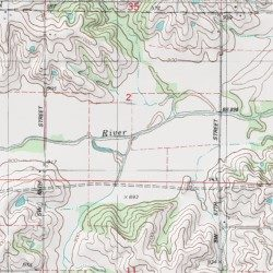 Warren County Iowa Map.Box Elder Creek Warren County Iowa Stream New Virginia Usgs