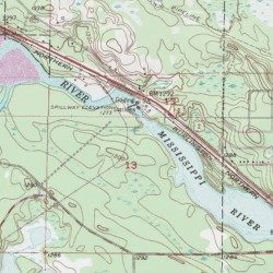 Pokegama Lake Dam Itasca County Minnesota Dam Grand Rapids USGS - Pokegama lake map