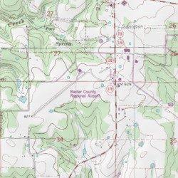 Ozark Mountains Topographic Map.Ozark Regional Airport Baxter County Arkansas Airport Mountain