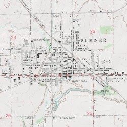 Sumner Iowa Map.Water Tower Park Bremer County Iowa Park Sumner Usgs Topographic