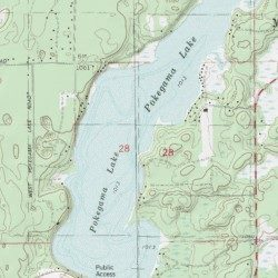 Pokegama Lake Washburn County Wisconsin Lake Minong USGS - Pokegama lake map