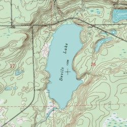 Devils Lake Sawyer County Wisconsin Lake Couderay USGS - Wisconsin topographic lake maps